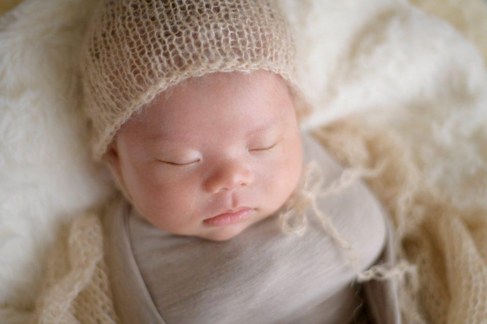 お客様の声をいただいた写真の一例(眠る新生児)