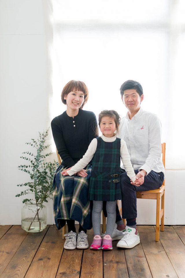 家族写真3人